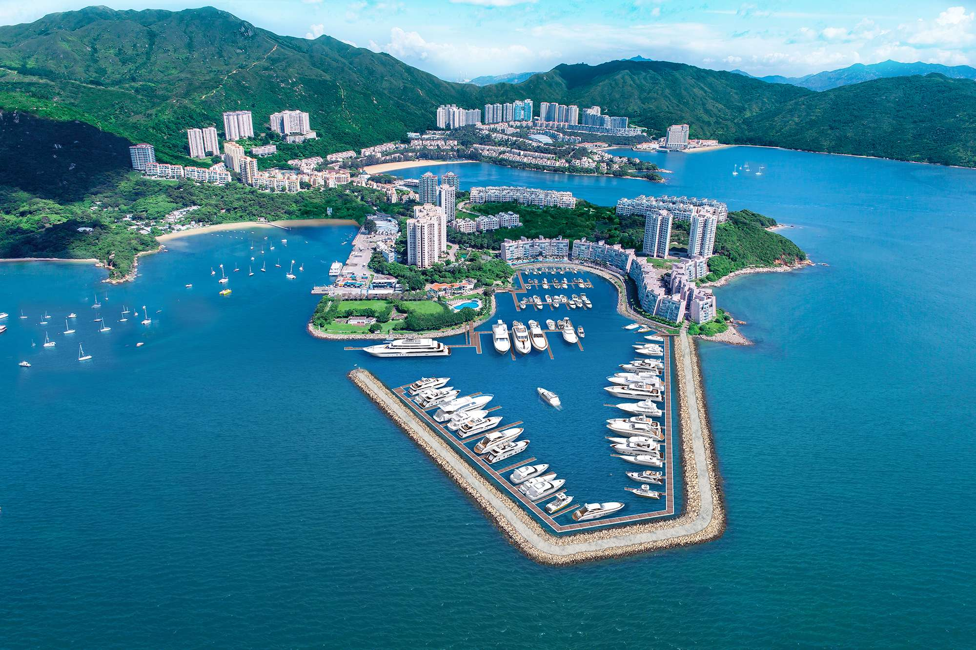 Lantau Yacht Club - the first and only custom-built marina in Hong Kong that can cater to specific needs of megayachts.